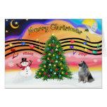 Música 2 del navidad - Keeshond Felicitacion