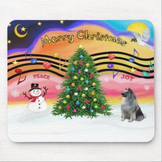 Música 2 del navidad - Keeshond Tapetes De Ratón
