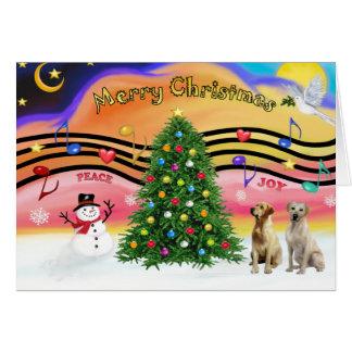 Música 2 del navidad - labradores retrieveres (ama tarjeta de felicitación