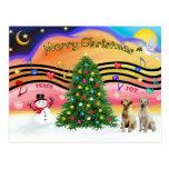 Música 2 del navidad - labradores retrieveres (ama tarjeta postal