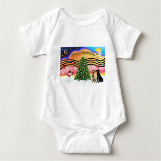 Música 2 del navidad - labradores retrieveres body para bebé