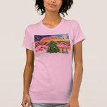 Música 2 del navidad - labradores retrieveres camisetas