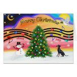 Música 2 del navidad - Manchester Terrier Tarjeton
