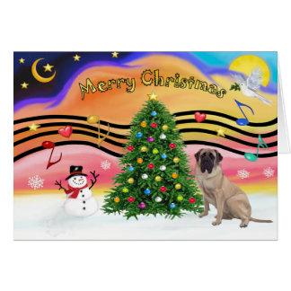 Música 2 del navidad - mastín de Bull Tarjeta De Felicitación