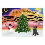 Música 2 del navidad - mojón (21 brindle) tarjeta