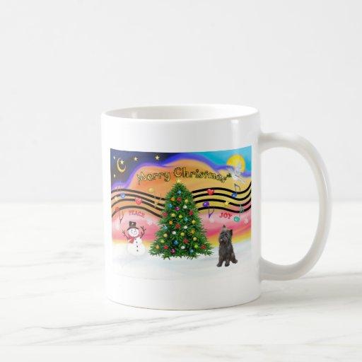 Música 2 del navidad - mojón (21 brindle) taza