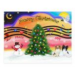 Música 2 del navidad - Papillons (dos) Tarjetas Postales