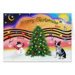 Música 2 del navidad - perro australiano 1 del gan felicitacion
