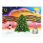 Música 2 del navidad - Pomeranian Postal