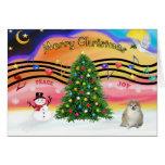 Música 2 del navidad - Pomeranian Tarjetón