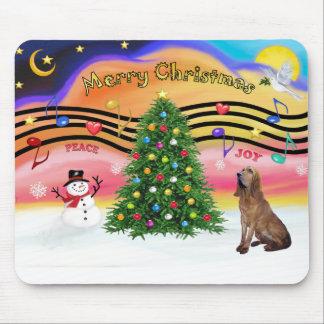 Música 2 del navidad - sabueso alfombrillas de ratón