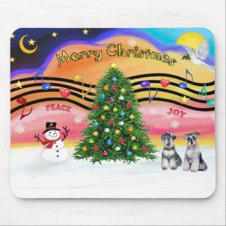 Música 2 del navidad - Schnauzers (dos) Alfombrillas De Ratón