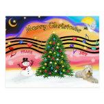 Música 2 del navidad - Terrier de trigo (ld) Postal