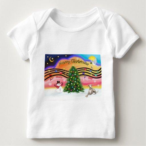 Música 2 del navidad - Whippet (Ld) Playera De Bebé