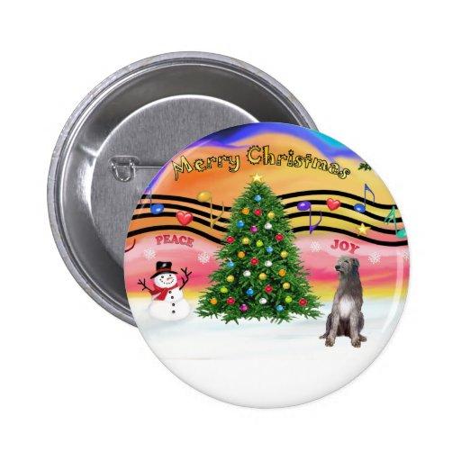 Música 2 del navidad - Wolfhound irlandés 1 Pin