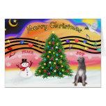 Música 2 del navidad - Wolfhound irlandés 1 Tarjeta