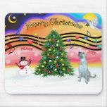 Música 2 del navidad - Wolfhound irlandés (e) Tapetes De Raton