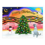 Música 2 del navidad - Wolfhound irlandés (e) Postal
