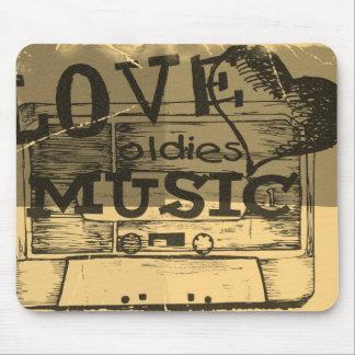 Música 3 de los oldies del amor del vintage tapete de raton