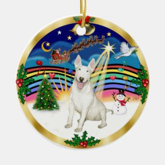 Música 3 de Navidad - bull terrier #4 Ornamento De Navidad