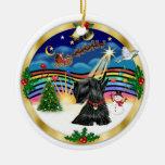 Música 3 de Navidad - escocés Terrier #12 Adorno Para Reyes