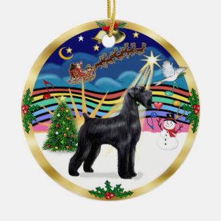 Música 3 de Navidad - Schnauzer gigante negro Ornamentos De Reyes Magos