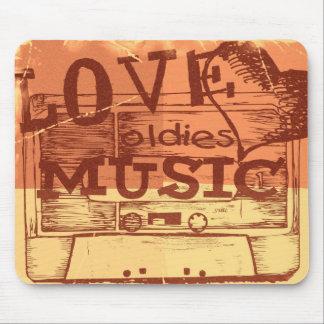 Música 4 de los oldies del amor del vintage mouse pads