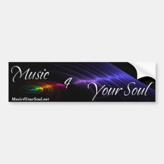 Música 4 su pegatina para el parachoques del alma pegatina de parachoque