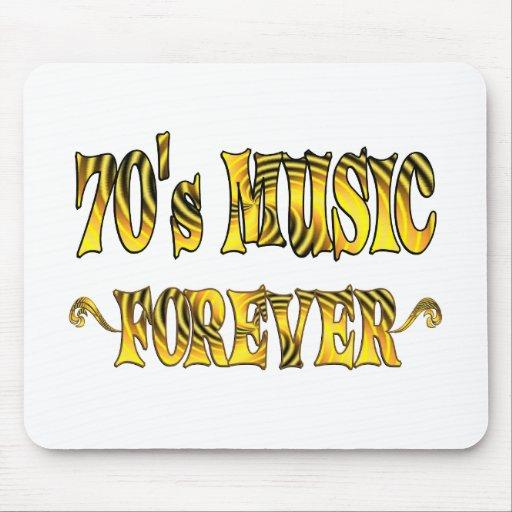 música 70s para siempre alfombrilla de raton