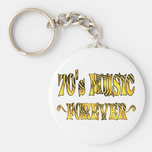 música 70s para siempre llavero