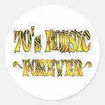 música 70s para siempre pegatina