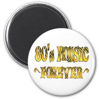 música 80s para siempre imán para frigorífico