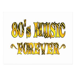 música 80s para siempre tarjeta postal