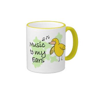Música a mi taza de los oídos