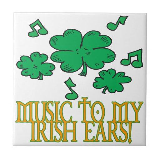 Música a mis oídos irlandeses azulejos ceramicos