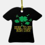 Música a mis oídos irlandeses ornaments para arbol de navidad