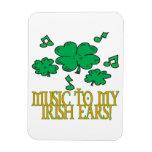 Música a mis oídos irlandeses iman flexible