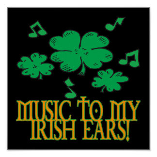 Música a mis oídos irlandeses poster