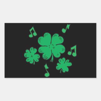 Música a mis oídos irlandeses rectangular pegatina