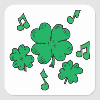 Música a mis oídos irlandeses pegatina cuadradas personalizada