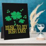 Música a mis oídos irlandeses placas de madera