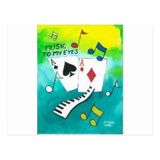 Música a mis ojos tarjetas postales