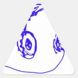 Música a sus oídos calcomanía de trianguladas