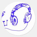 Música a sus oídos etiqueta redonda