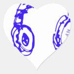 Música a sus oídos calcomanía de corazón personalizadas