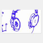 Música a sus oídos rectangular altavoces