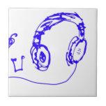Música a sus oídos teja cerámica