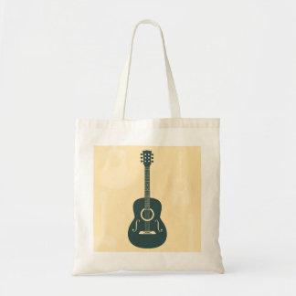 Música acústica de la guitarra retra bolsa