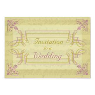 """Música adornada, invitaciones del boda de la De Invitación 5"""" X 7"""""""