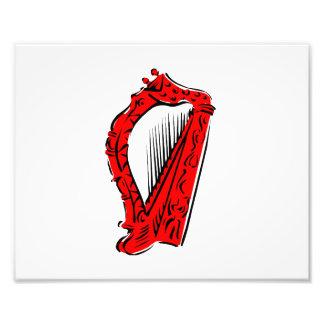 música adornada negra roja design png de la arpa arte con fotos